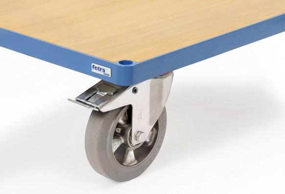 Räder mit Elastic-Bereifung blaugrau und Kugellager