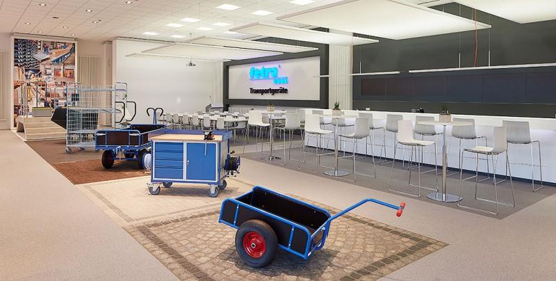 Teststrecke für Handtransportgeräte im fetra Kompetenzzentrum
