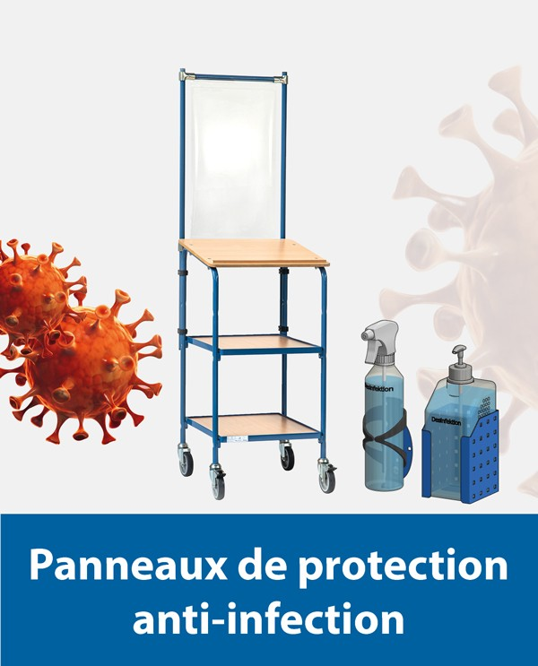 Panneaux de protection anti-infection
